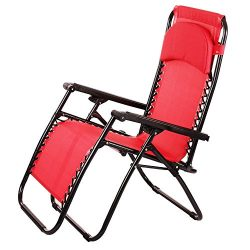 Hindom Foldable Zero Gravity Lounge Patio Chairs Outdoor Yard Beach New Chaise Chair with Durabl ...