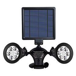 Solar Lights Motion Sensor Outdoor, MAXINDA Upgraded Double Spotlights 12 LED Dual head Super Br ...