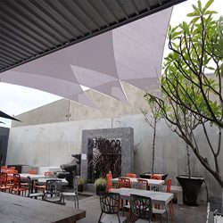 Belle Dura Light Grey 12′ x 12′ x 12′ Triangle Sun Shade Sails UV Block for Sh ...