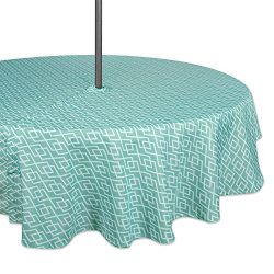 DII Spring & Summer Outdoor Tablecloth, Spill Proof and Waterproof with Zipper and Umbrella  ...