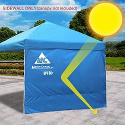 MASTERCANOPY Sunshield Side Wall Instantly Attaches to Any 10x10ft Straight Leg Pop Up Instant C ...