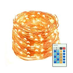 65.5ft 200 LED String Lights Dimmable with Remote Control, Mxsaver Waterproof Decorative Lights  ...