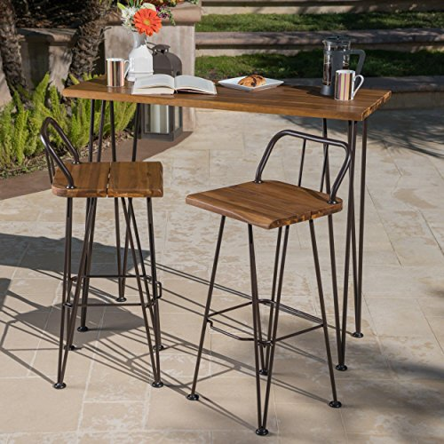 Great Deal Furniture Leonardo Outdoor Industrial Teak