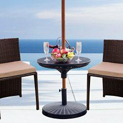 Sundale Outdoor Adjustable All Weather Umbrella Table Beach Patio Garden Poolside Accessory, 23i ...