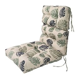 LNC Indoor Seat Cushions Outdoor Lounge Chair Cushions Patio High Back Chair Cushion Green Leaf