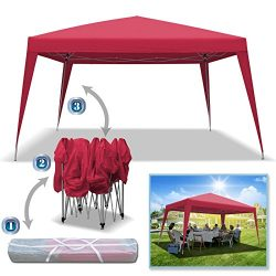 BenefitUSA 10'x13′ EZ POP UP Wedding Party Tent Folding Gazebo Beach Canopy Shelter  ...