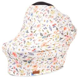 5-in-1 Car Seat Canopy & Nursing Cover by Matimati, Stretchy & Ultra Soft Breastfeeding, ...