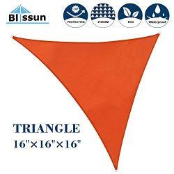 Blissun 16′ x 16′ x 16′ Sun Shade Sail Triangle Canopy, UV Block for Outdoor  ...