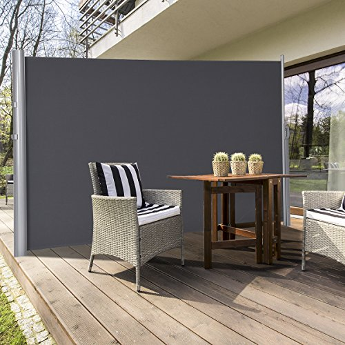 Tangkula Outdoor Patio Retractable Folding Side Screen
