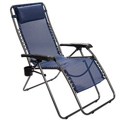 Timber Ridge Zero Gravity Lounger Chair Oversized Patio Recliner for Outdoor Support 300lbs