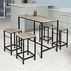 Haotian Sling High Bistro Set,Home Kitchen Outdoor Garden Bar Set,Patio Furniture, Bar Set-1 Bar ...
