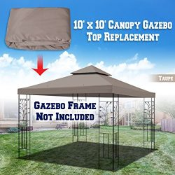 BenefitUSA Replacement 10'X10′ Gazebo Canopy Top Cover Patio Pavilion Sunshade Doubl ...