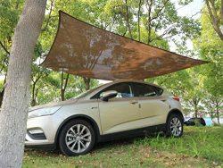 Belle Dura Patio Brown Sun Shade Sail Canopy 8'x10′, Rectangle Backyard Shade Sail f ...