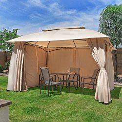 Barton 10 x 12 FT Garden Gazebo, Fully Enclosed w/ Mosquito Netting