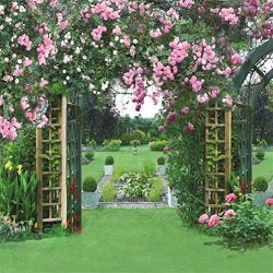 AOFOTO 10x10ft Wedding Garden Backdrop Romantic Flower Pergola Photography Background Spring Mea ...