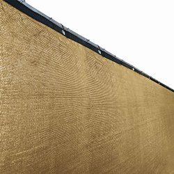 ALEKO PLK0425BEIGE Fence Privacy Screen Outdoor Backyard Fencing Windscreen Shade Cover Mesh Fab ...