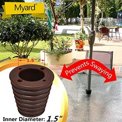 MYARD Umbrella Cone Wedge for Patio Table Hole Opening 1.8 to 2.4 Inch, Umbrella Pole Diameter 1 ...