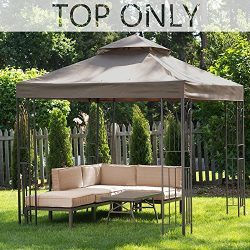 MASTERCANOPY Gazebo Replacement Canopy Top 8×8ft Replacement Canopy roof for Model L-GZ385PST