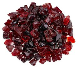 American Fireglass Red Recycled Fire Pit Glass – Medium (18-28Mm), 10 lb. Bag