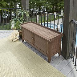 Home Styles 5134-26 Montego Bay Outdoor Solid Wood Storage Bench, Barnside Brown