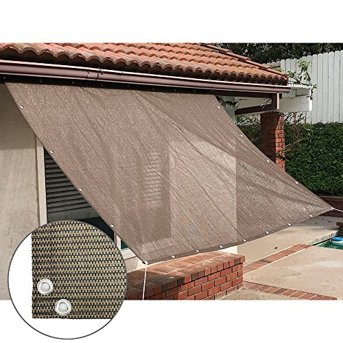 Alion Home Sun Shade Panel Privacy Screen With Grommets On