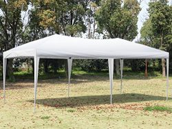 CHARAVECTOR 10×20 ft Heavy Duty EZ Pop Up Tent Canopy Gazebo Pavilion Commercial Outdoor Pa ...