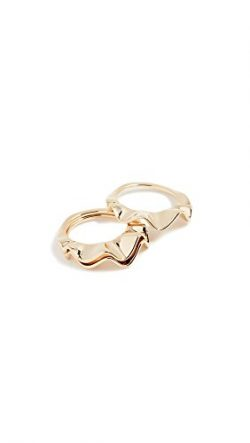 Kate Spade New York Stackable Set Frilled To Pieces Stackable Set Gold Ring, Size