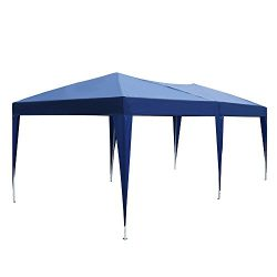 S&Cortile Outdoor 10' x 20' Easy Pop Up Canopy Tent Portable Shade Instant Folding with Carr ...