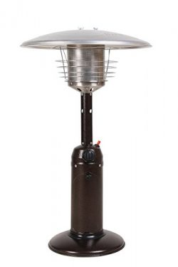 LEGACY HEATING Tabletop Patio Heater, Mocha powder coated finish