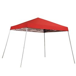 Outdoor Basic 8 x 8 Ft Canopies 10 x 10 Ft Base Slant Legs Pop up Canopy Tent For Camping Party Red