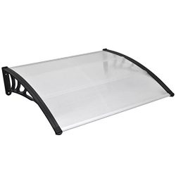 vidaXL 47″ x 39″ Outdoor Polycarbonate Front Door Window Awning Patio Cover Canopy