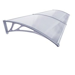 F2C 1mx2m DIY Outdoor Polycarbonate Front Door Window Awning Patio glassy Cover Canopy (two boards)