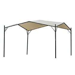 Outsunny 10′ x 10′ Outdoor Garden Steel Butterfly Sun Shade Gazebo Canopy Cover &#82 ...