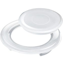Bememo 2 Inch Patio Table Umbrella Hole Ring and Cap Set, Standard Size Umbrella Thicker Hole Ri ...