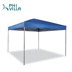 PHI VILLA 10 x 10ft Portable Pop-Up Canopy Straight Leg, Blue