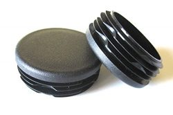 8 Pack: 1 1/2 Inch Round Plastic Plug, Pipe Tubing End Cap, Durable Chair Glide