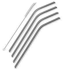 SipWell Extra Long Stainless Steel Drinking Straws Set of 4, Straws for 30 oz Tumbler and 20 0z  ...