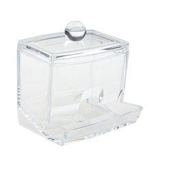 YJYdada Q-tip Swab Acrylic Cotton Organizer Box Cosmetic Stick Holder Storage