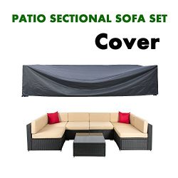 AKEfit Patio Cover,Patio Furniture Set Covers Waterproof Outdoor Furniture Lounge Porch Sofa Wat ...