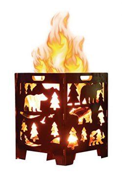 GreatCircleUSA Incinerator Burn Cage Fire Pit Stove box for Patio Camping Outdoor Backyard Bonfi ...