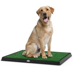 PETMAKER Artificial Grass Bathroom Mat for Puppies and Small Pets- Portable Potty Trainer for In ...