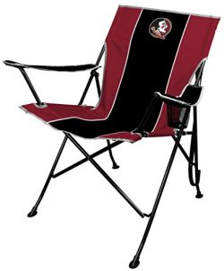 NCAA Portable Folding Tailgate Chair with Cup Holder and Carrying Case