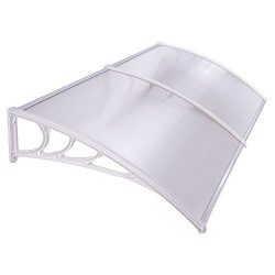 Yescom 78-3/4x 39-3/8 Outdoor Clear Door Window Awning Canopy Hollow Polycarbonate Patio Cover R ...