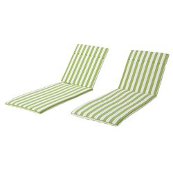 Christopher Knight Home 300076 Lakeport Patio Salem Outdoor Chaise Lounge Chair Cushions (Set of ...