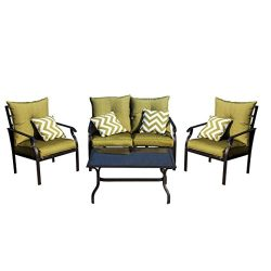 SUKEQ 4 Pieces Patio Furniture Sets, Clearance Outdoor Selectional Conversation Set, Patio Dinin ...