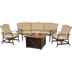 Hanover Outdoor Furniture TRADDURA4PCFP Traditions 4 Piece Conversation Set with 40″ Duras ...
