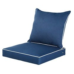 Qilloway Outdoor/Indoor Deep Seat Chair Cushions Set,Replacement Cushion for Patio Furniture.(Na ...
