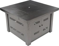 LEGACY HEATING 38-Inch Square Fire Pit Table, Bronze powder coated finish