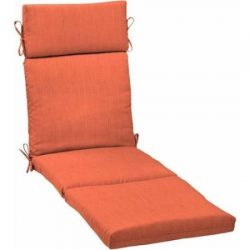 Better Homes and Gardens.. Outdoor Patio Chaise Lounge Cushion (Wild Orange)