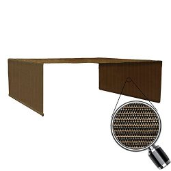 Alion Home Custom HDPE Permeable Canopy Sun Shade Cover Replacement with Rod Pockets for Pergola ...